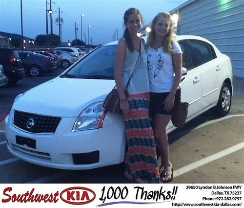 Thank you to Jana Douglas on the 2007 Nissan Sentra from Stan Bowie and everyone at Southwest Kia Dallas!