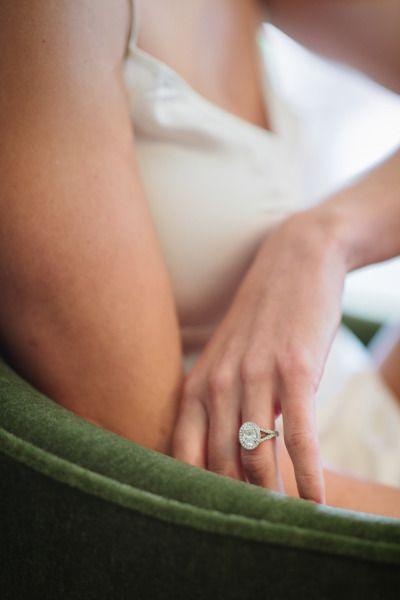 Oval cut wedding ring: http://www.stylemepretty.com/little-black-book-blog/2014/10/14/elegant-bowery-hotel-wedding/ | Photography: Brian Hatton - http://brianhattonweddings.com/