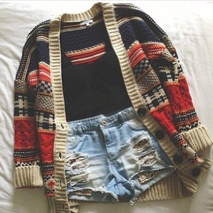 sweater aztec print clothes oversized cardigan cardigan aztec