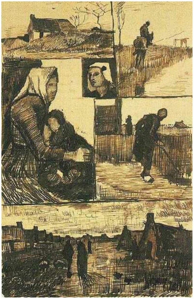 Vincent van Gogh: Sheet with Sketches, A Drawing