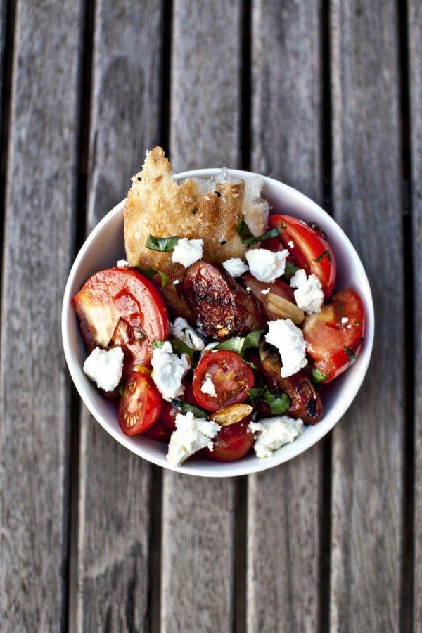 :: Five Things I Want To Cook : Jamie Oliver's Chorizo and Tomato Salad via Greedy Gourmand