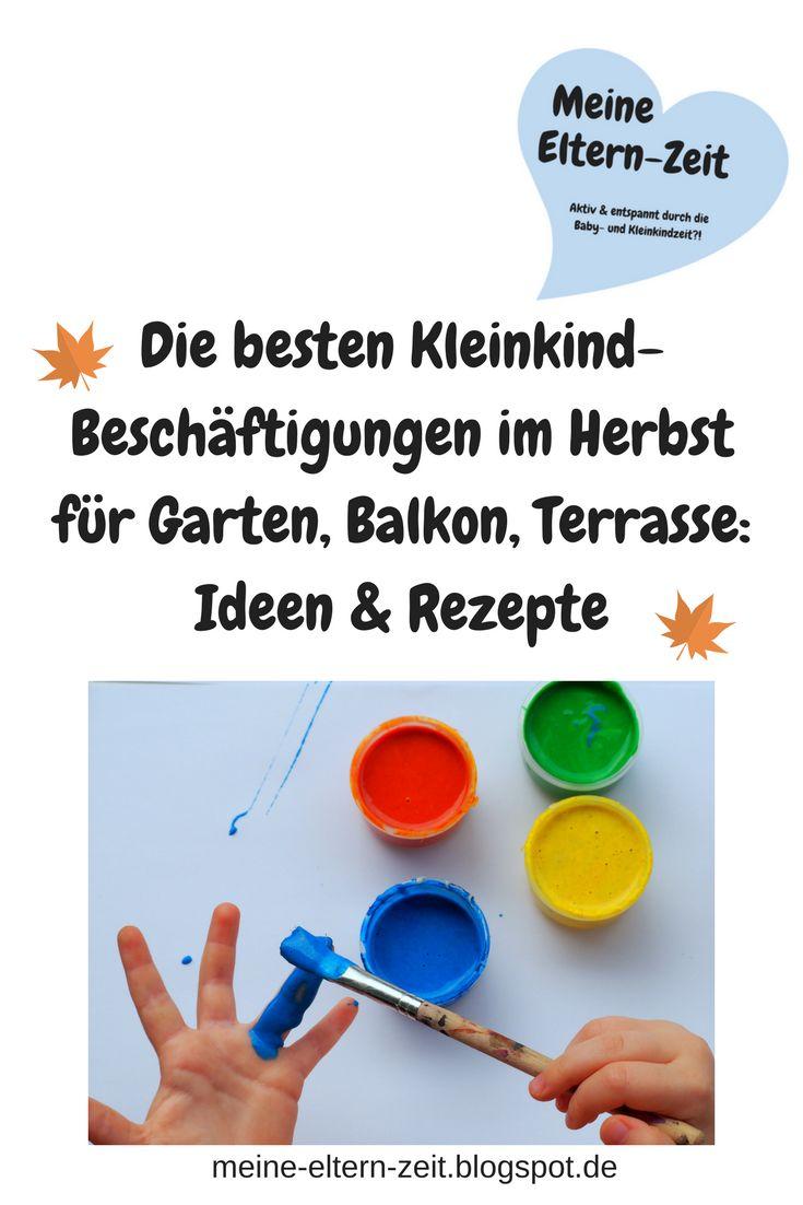 Rausgehen Mit Kleinkind Auch Im Herbst: Tipps Und Ideen Zum Malen, Matschen  Und Spielen