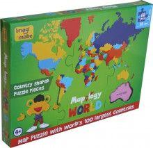 Puzzle WORLD'S 100 Largest Countries, puzzle, Imagi