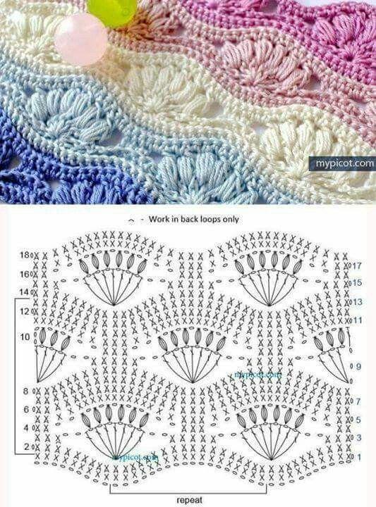 367 best CROCHET Puntos images on Pinterest | Crochet patterns ...