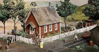 Campbell Scale Model Iowa School House -- HO Scale Model Railroad Building Kit -- #369
