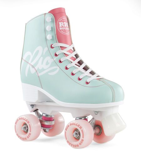Rio-Roller-Inscription-Figure-Quad-Patin-A-Roulette-Teal-Corail
