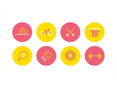 Dribbble - Olympic icons by Joe Warburton