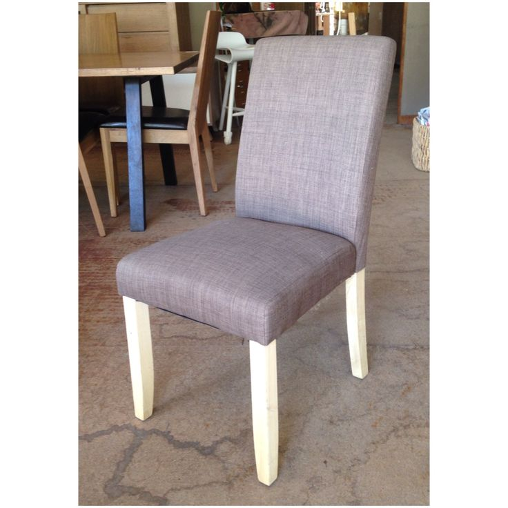 The low back linen dining chair in 'Mocha' for sale at Wildflower Furniture. Also available in 'Slate', 'Ash', 'Almond' and 'Pumice'.