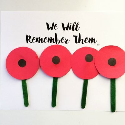 One easy way to start a discussion around Remembrance Day with your toddler or big kid, is to do a simple poppy craft.
