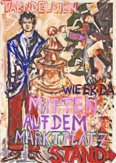 "Saatchi Art Artist Ahmed Borai; Painting, ""Witwe Bolte, Newspaper Art Novel, #11"" #art"