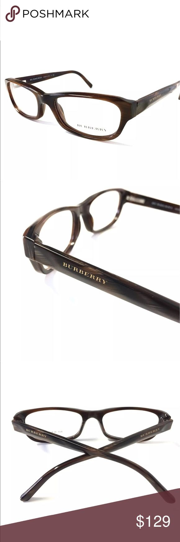 BURBERRY Brown Horn Eyeglasses Brown Horn Burberry Eyeglasses  Burberry Eyeglasses for Prescription lenses  SIZE: 51mm - 17mm - 135mm  🦋100% Authentic!!!  🦋Includes a Burberry Case. No Tags Burberry Accessories Glasses
