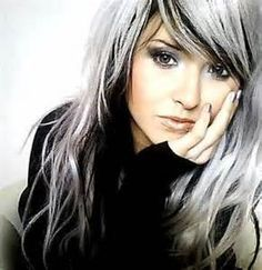 Gray Hair On Top Of Head And Black Hair At Bottom Google Search Beauty Amp Makeup Pinterest Highlights White Hair And Search