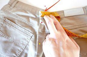 aprender paso a paso estrechar cintura pantalon