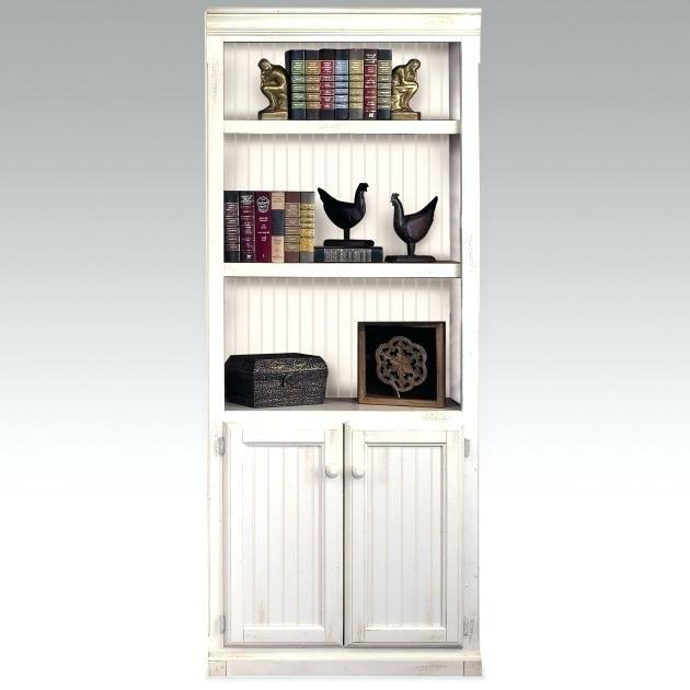 Modern Black Bookshelf With Doors White Bookcase Tall White