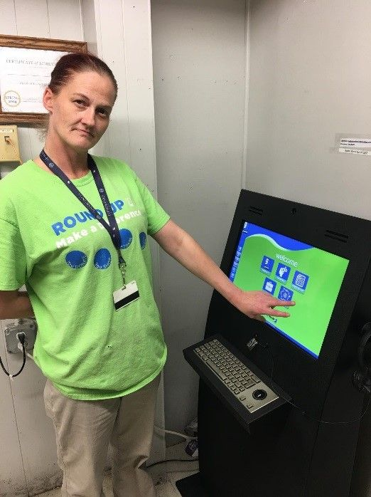 Goodwill Industries in Virginia town installs informational kiosks for employees