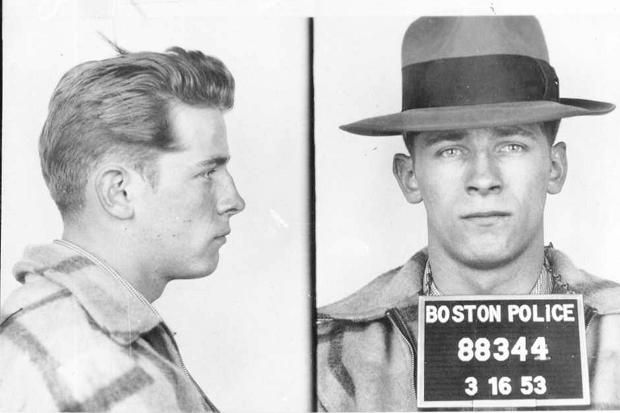 "Boston police booking file photo combo shows James ""Whitey"" Bulger"