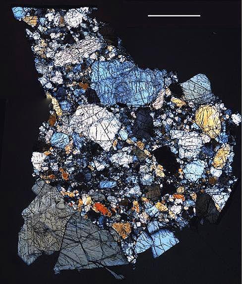 Thin meteorite slices