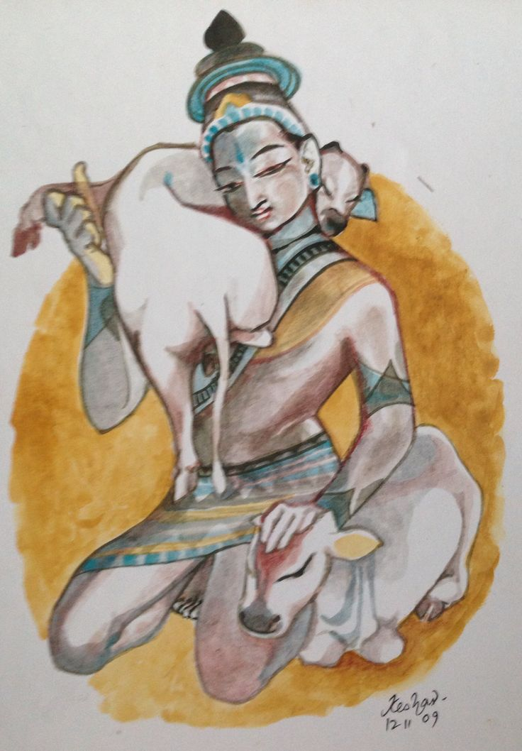#krishnafortoday Vaatsalyam series. Watercolor.