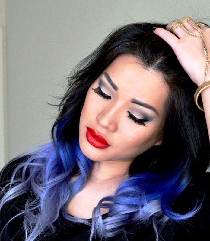 Mavi Siyah Saç Rengi Örnekleri ve Modelleri