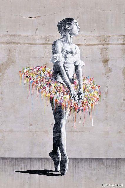 Ballerina, Oslo. Graffitied tutu | Whim & Fantasy on We Heart It