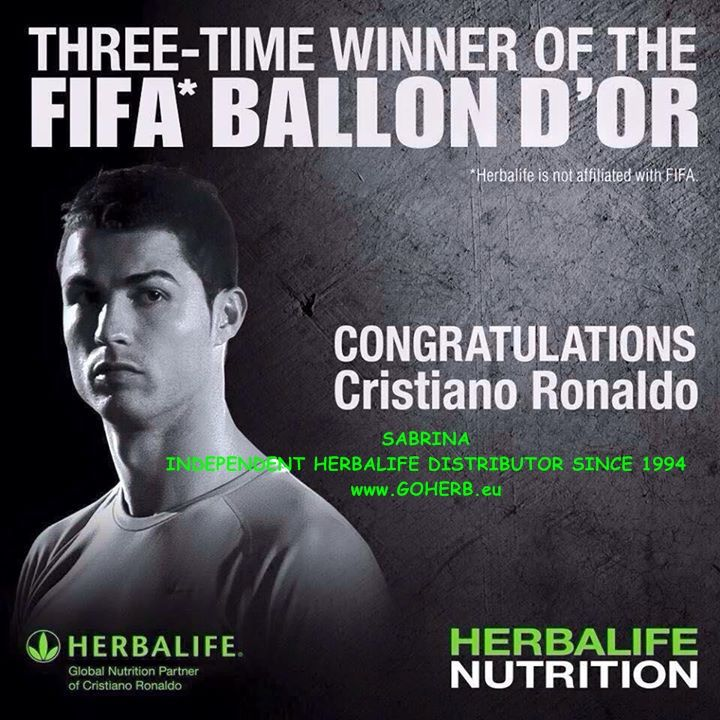 CONGRATULATIONS Cristiano Ronaldo! Champions fuel with HERBALIFE! What's YOUR fuel? Get Herbalife products TODAY! SABRINA INDEPENDENT HERBALIFE DISTRIBUTOR SINCE 1994 Solutions for Weight Management, SPORTS Nutrition and Beauty Empowering You To Change Call +12143290702 http://dallas.goherb.eu/ https://www.goherbalife.com/goherb