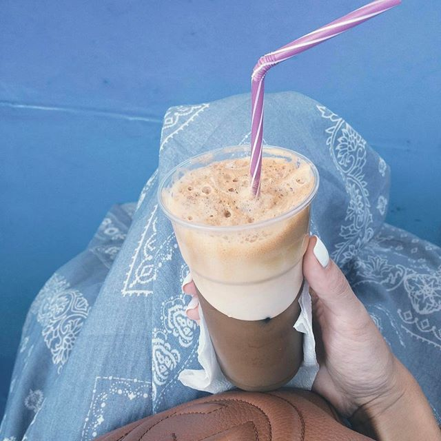 The frappe, how Greeks do afternoon coffee.