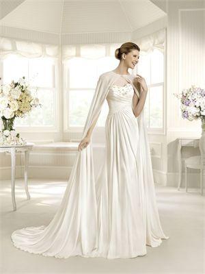 white wedding dresses MSKY0068 (I like the cape, too)