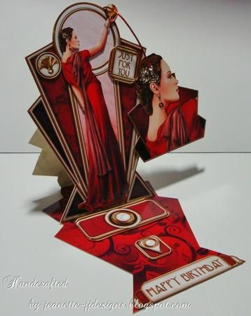 Crafts U print Card Gallery - Pandore art deco shaped panels