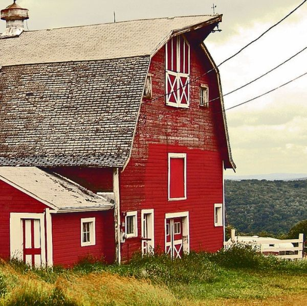 I love red barns.   : Dreams Barns, Paintings Inspiration, White House Red Barns, Favorite Places, Barns Sheds Color, Beautiful Barns, Barns House, Country Barns, Photography Inspiration