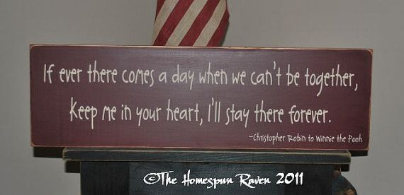 If there comes a day we cant be together by thehomespunraven, $32.00