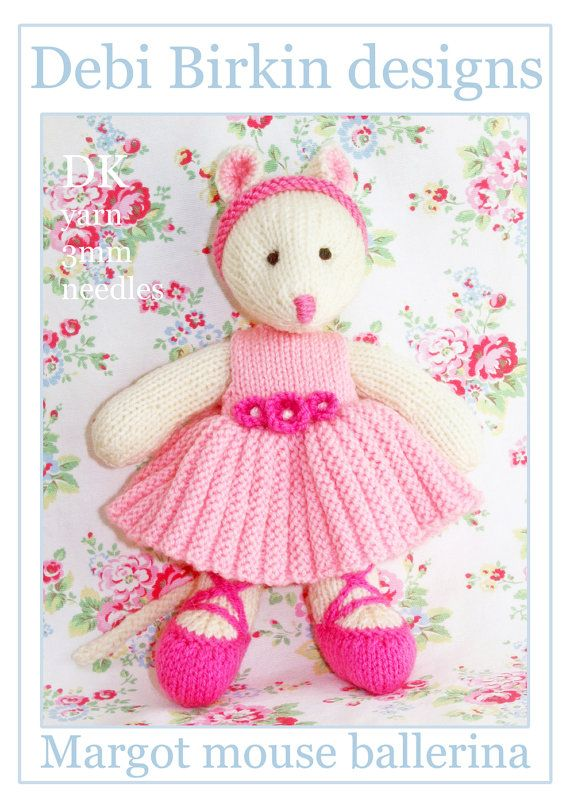 ballerina mouse PDF email toy mice knitting pattern USD3.99 KNITTING EXTREME ...