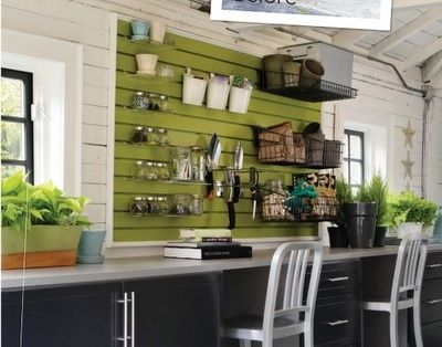 Orderly Work space: Slats Wall, Crafts Rooms, Garages, Garage Organizations, Work Spaces, Organizations Garage, Garage Ideas, Slat Wall, Storage