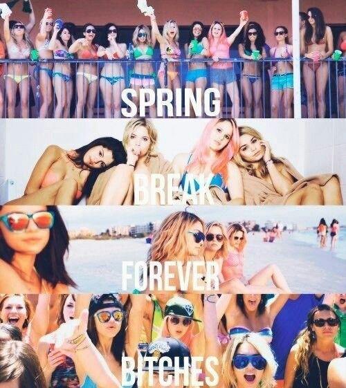 spring break in 1 week!!