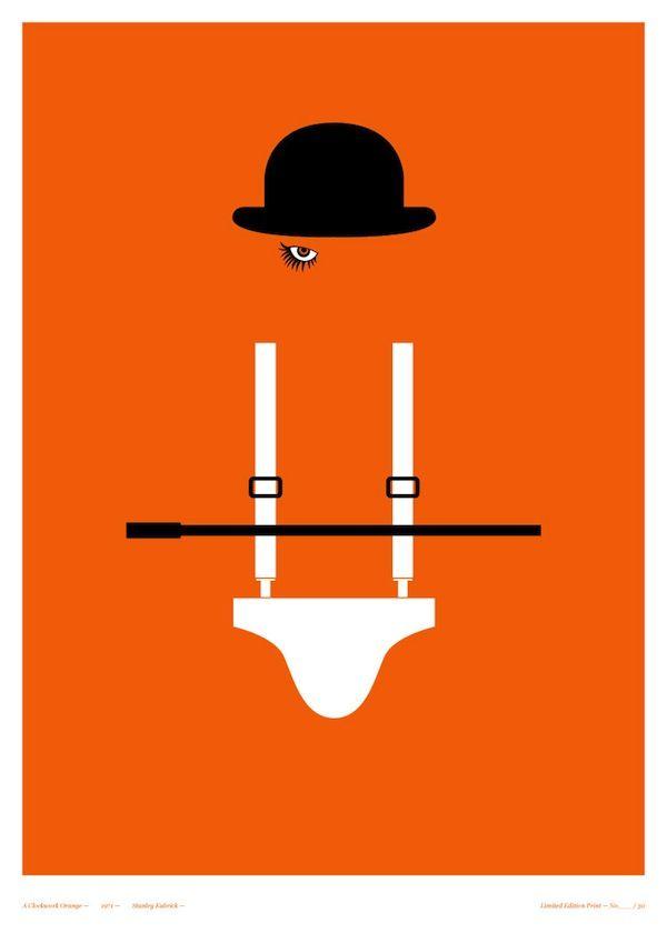Film: Re-designed horror posters | 'A Clockwork Orange'