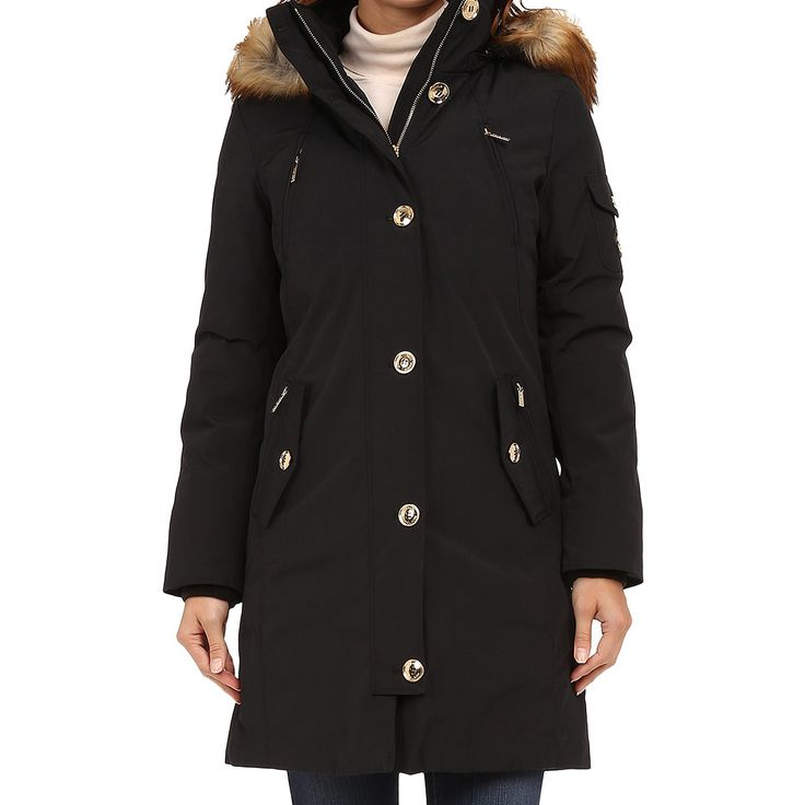 Michael Kors Women's Black Parka Coat by Michael Kors