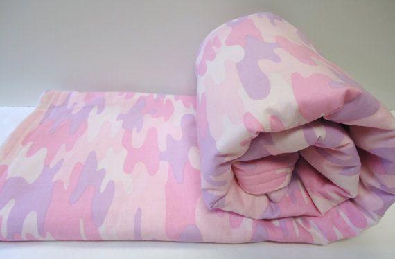 Baby Girl Blanket-Modern Camouflage-Pink-Lavender-Modern Camo