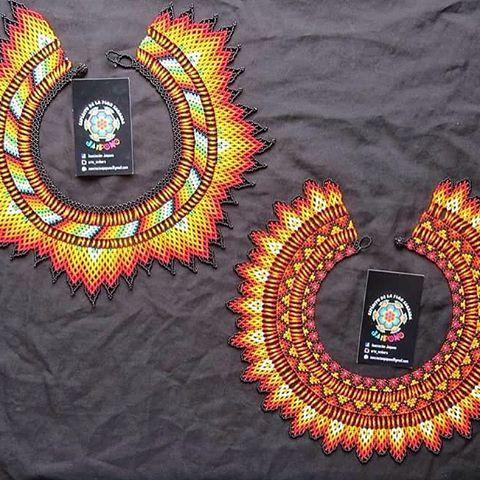 Collar mas diseño @arte_embera #hecho #mano #diseño #indigena #colombia