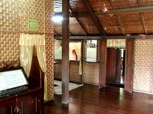 An Interior View Of A Perak Kampung House In Malaysia