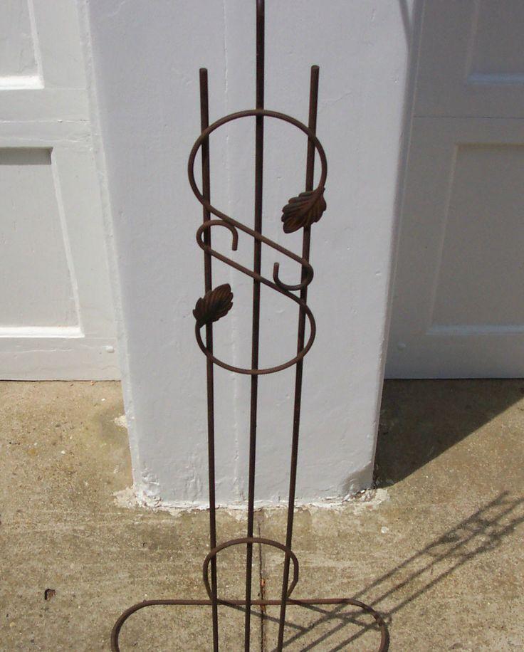 Vintage Antique Bird Cage Hanging Holder Stand Original ...