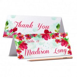 Printed Place Cards / Floral Wedding Place Card / Peony Place card / Editable Wedding Name Cards / Food Labels Cards