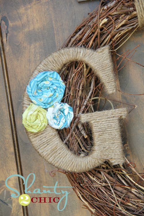 How to make a darling spring wreath! Love it!