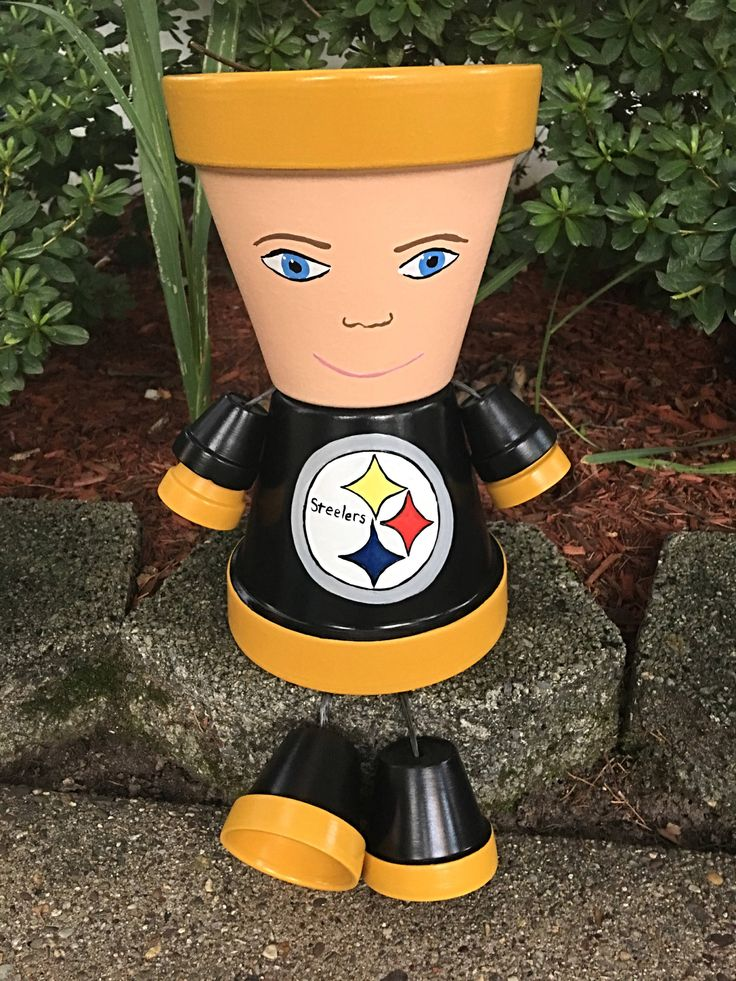 A personal favorite from my Etsy shop https://www.etsy.com/listing/553881249/pittsburgh-steelers-pot-terra-cotta