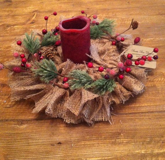 Rustic holiday centerpiece beautiful winter scenes