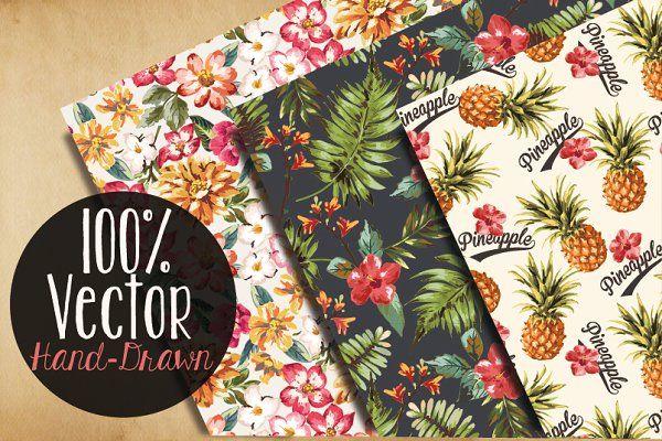 Seamless tropical patterns Vol.2 - Patterns