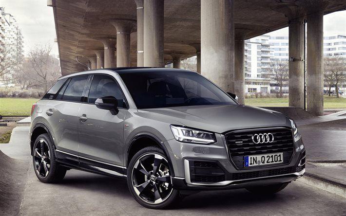 Audi Q2, 2016, bridge, crossovers, gray Audi