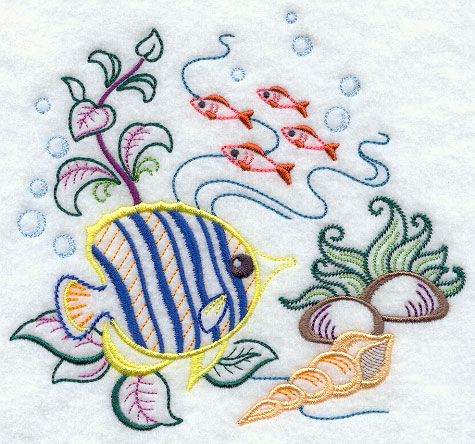 144 Best Images About Embroidery Sea Life On Pinterest