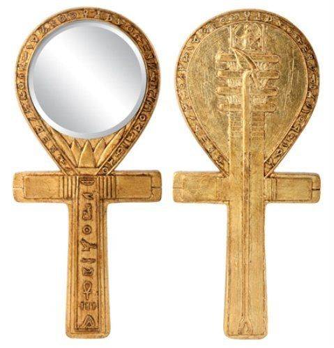 Djed Ankh Mirror Egyptian Decoration Accessory Decoration Collectible -- You can find more details by visiting the image link.