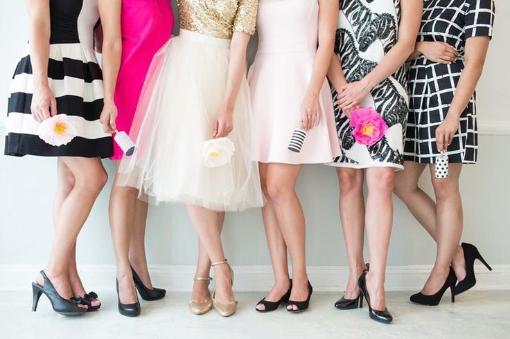 pink, black and white wedding http://itgirlweddings.com/4-ways-to-style-a-kate-spade-bridal-shower/