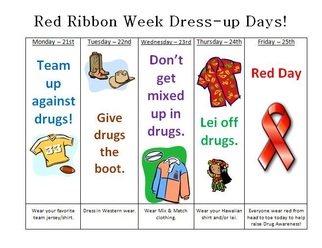 Ranchview High School - Red Ribbon Week Activities.
