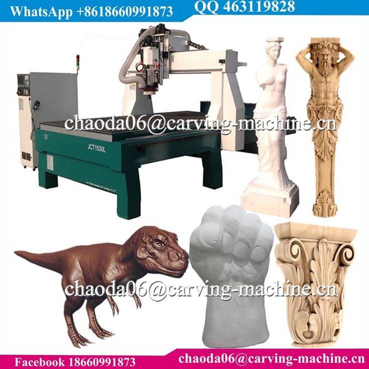 Art statue wood carving mini 5 axis cnc, cheap sculpture foam cutting 5 axis cnc router, 3d 4d 5d milling 5 axis mold machine